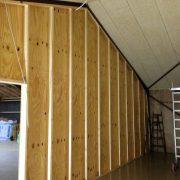 DR Tømrermester – bygning af hal – indvendig