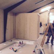 DR Tømrermester – montering af køkken og toilet i hal 1