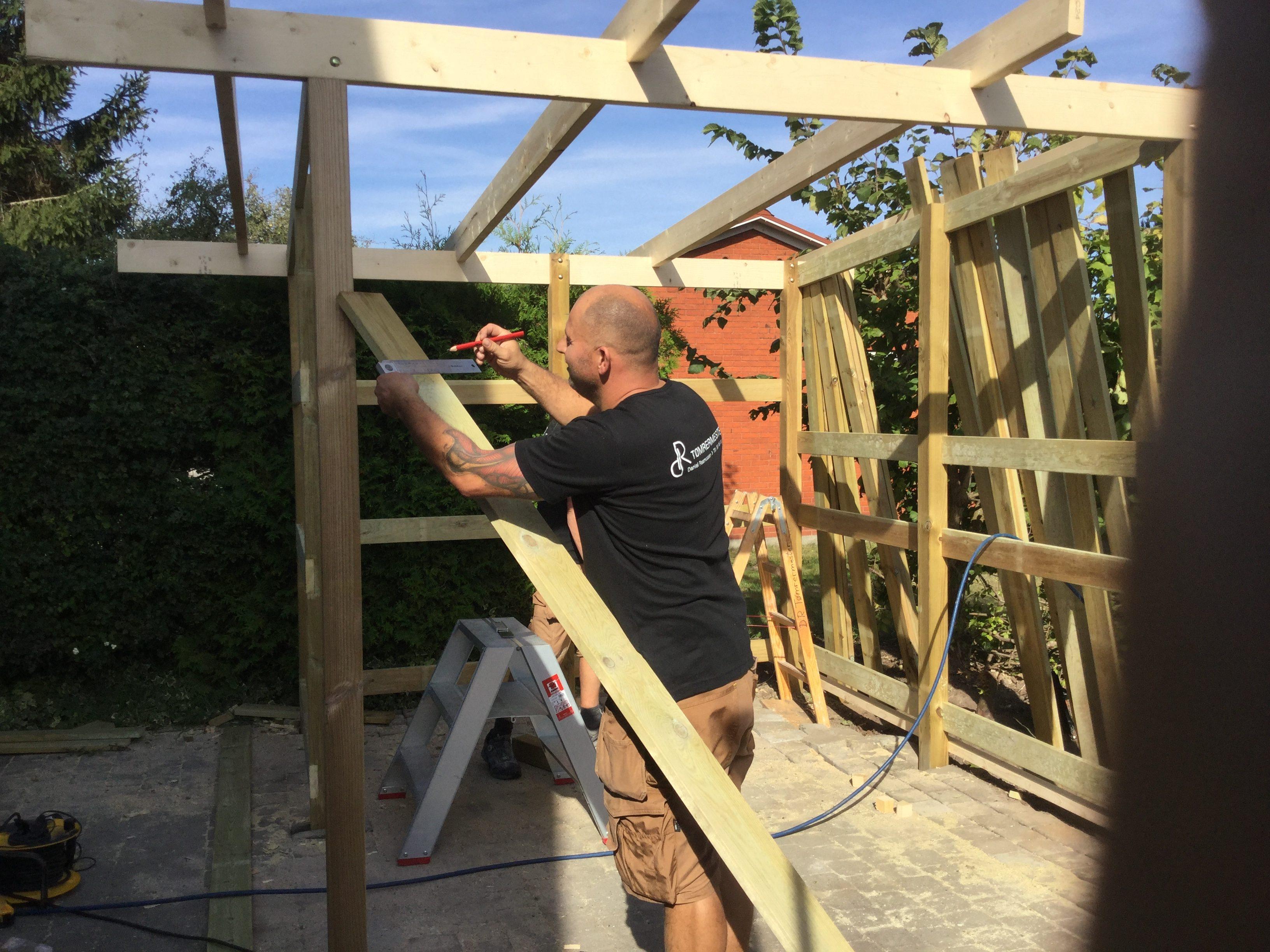 DR Tømrermester – overdækket terrasse 1